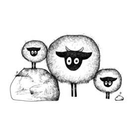 Connemara met tweeling- kunstprint