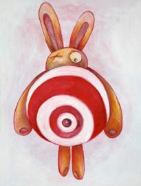 Target bunny - greeting card