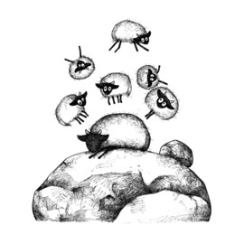 Connemara telt schapen - kaart