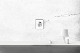 Playing mama - zwart/wit print