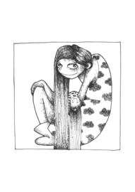 Playing mama - black & white art print