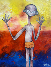 Boy on the beach | 40x30cm | FOR SALE