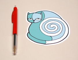 Sticker - Turquoise cat