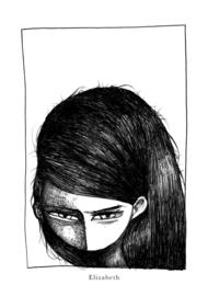 Elizabeth - black & white art print