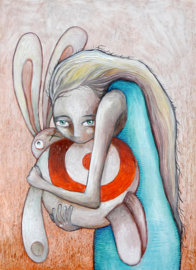 Girl with Target Bunny