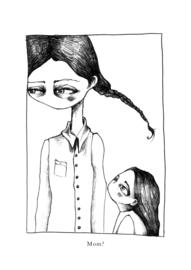 Mom? - zwart/wit print