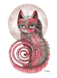 Small cat - kunstprint