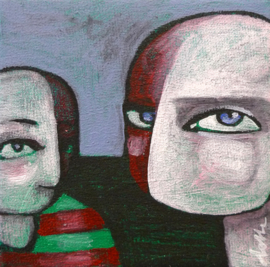 Two men | 10x10cm | FOR SALE