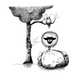 Connemara en uil - kaart