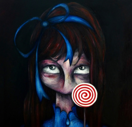 Lollipop girl - kunstprint