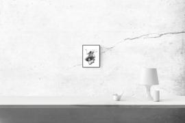 Ecstatic - zwart/wit print