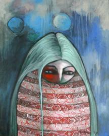 Melancholisch meisje | 50x40cm | TE KOOP