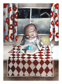 The Christmas dinner - kunstprint