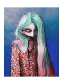 Swirl Girl - kunstprint