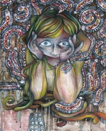 Caterpillar girl | SOLD