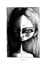 Ivana - zwart/wit print