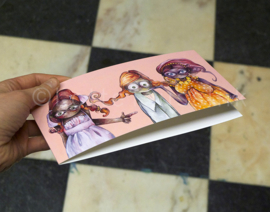 The ginger sisters - gevouwen kaart