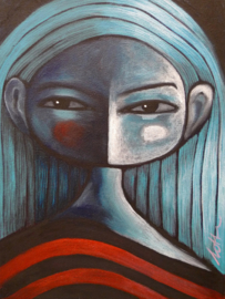 Blue haired girl | 24x18cm | FOR SALE