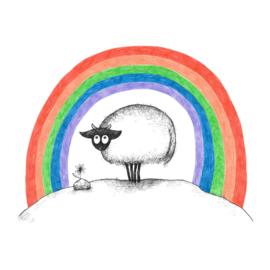 Connemara onder de regenboog - kunstprint