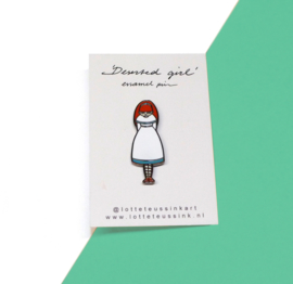 Deserted Girl enamel pin
