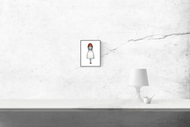 Deserted girl logo - kunstprint