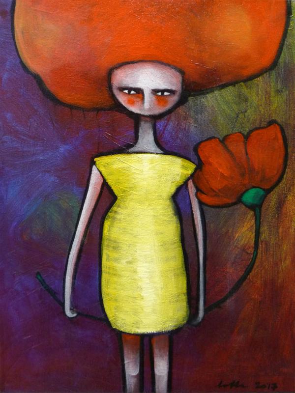 The yellow dress | VERKOCHT