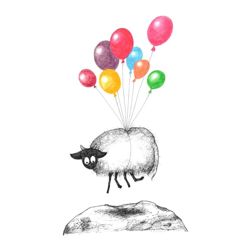 Connemara en ballonnen - kaart
