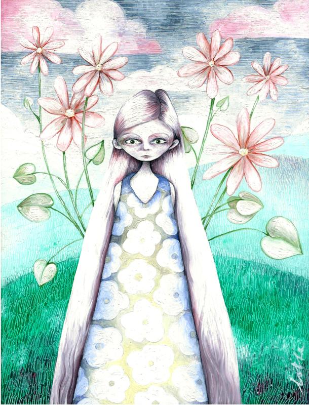 Flower girl - kunstprint