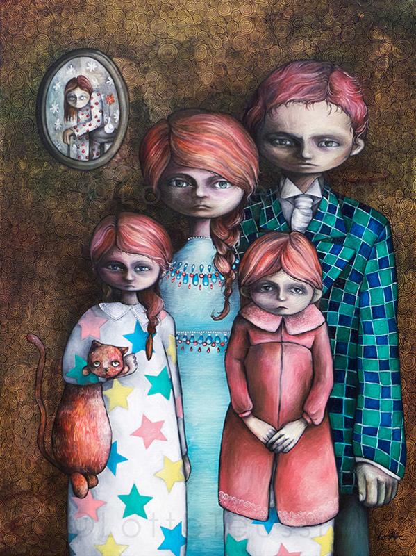 De familie - kunstprint