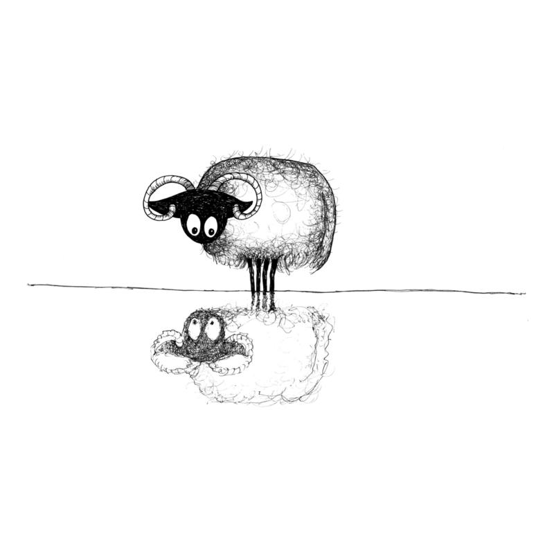 Connemara in de spiegel - kunstprint