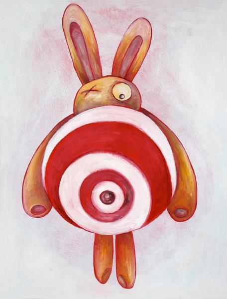 Target bunny - gevouwen kaart