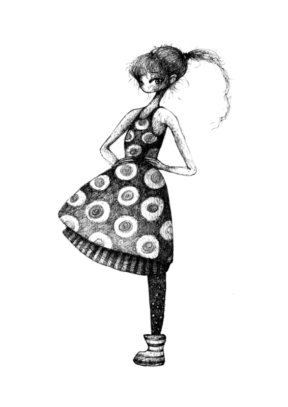 My favourite dress - zwart/wit print
