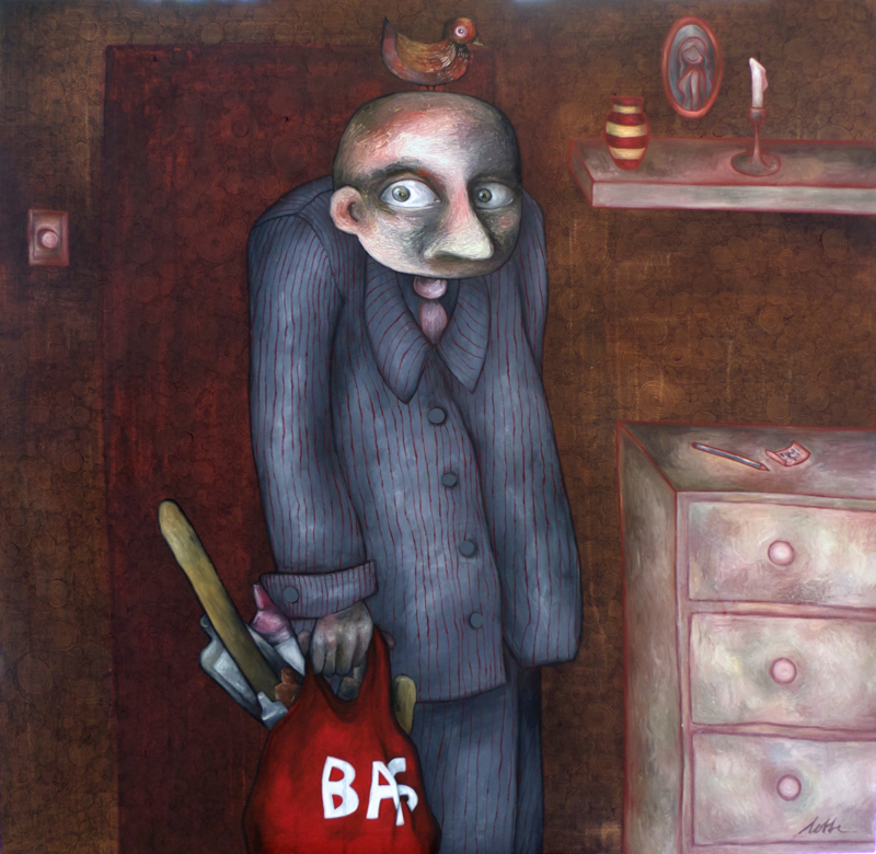 The neighbour | 140x140cm | FOR SALE