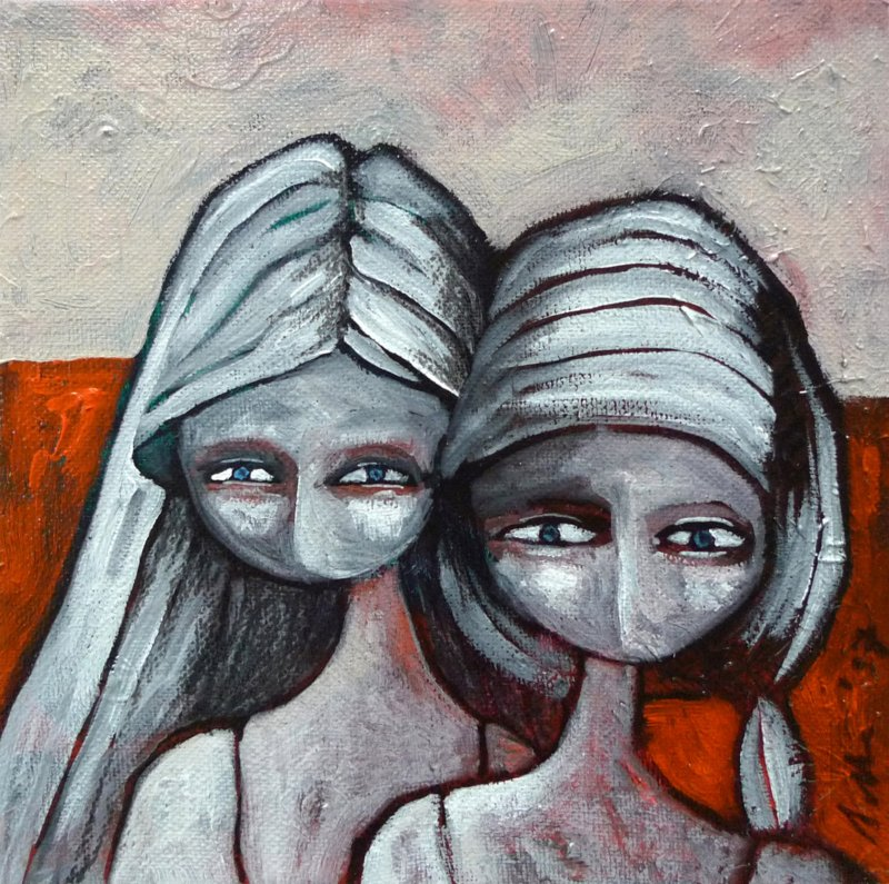 Two girls | 20x20cm | FOR SALE