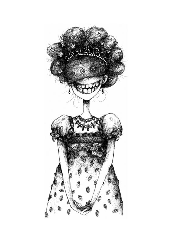 Princess - zwart/wit print