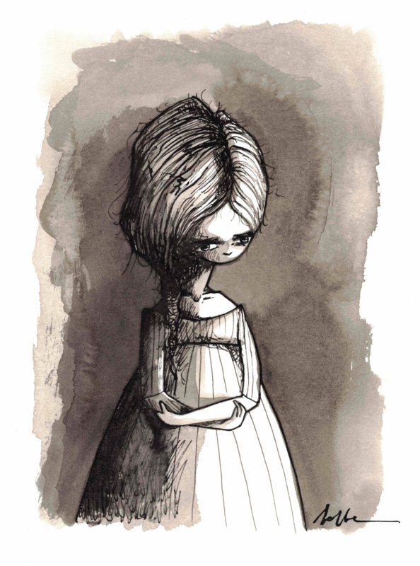Grace - inkt tekening