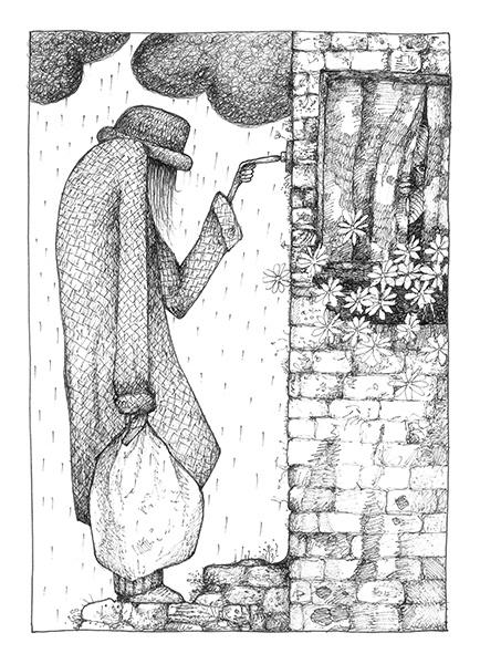 The visitor - gevouwen kaart