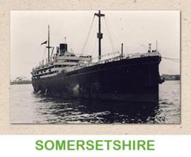 Dubbele kaart 'Transportschip Somersetshire'