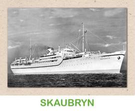 Dubbele kaart 'Transportschip Skaubryn'