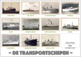 Dubbele kaart 'set van 11 transportschepen'