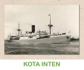 Dubbele kaart 'Transportschip Kota Inten'