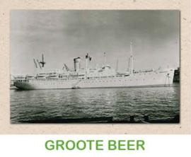 Dubbele kaart 'Transportschip Grote Beer'