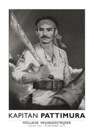 Poster Pattimura staand | ingelijst