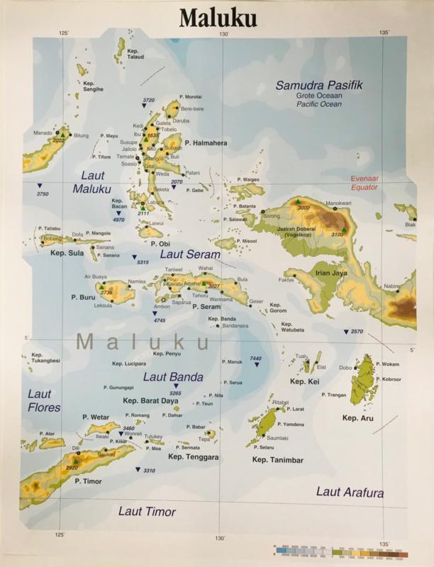 Wandkaart Maluku