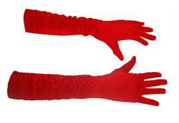Lange handschoenen met stretch - Rood (60197E)
