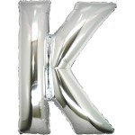 Folie Letter K - 100 cm Zilver