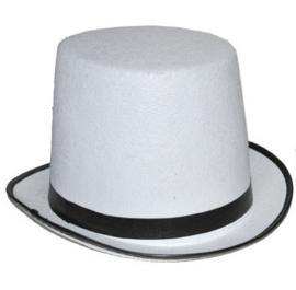 Hoge hoed Wit  - one size (63357E)
