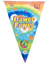 Vlaggenlijn Peace - Flower Power - 5 meter (85441E)