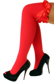 Kousen rood + strik one size (11198P)