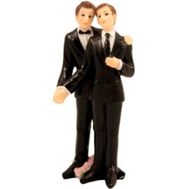 Trouwfiguurtje / bruidspaar man en man (21257F)